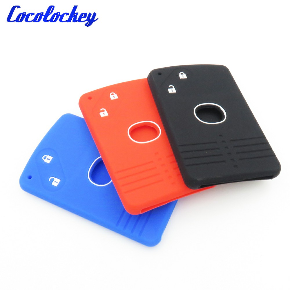 Cocolockey 2Buttons Silicone Car Key Card Cover Shell Fob Case For Mazda 3 5 6 8 M8 CX-7 CX-9 Smart Key Skin Jacket Car Style