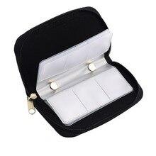 Черный безопасная цифровая карта памяти SDHC консоли MMC CF микро-карты памяти для хранения чехол сумка держатель карты бумажник высокое качество