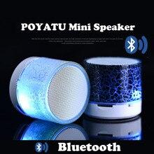 POYATU LEDมินิไร้สายบลูทูธลำโพงTF USBวิทยุแบบพกพากล่องเสียงดนตรีลำโพงซับวูฟเฟอร์สำหรับโทรศัพท์พีซี