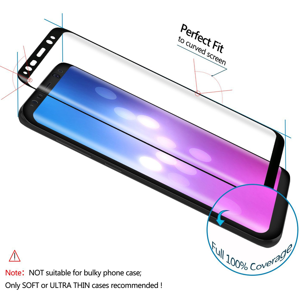 Akcoo New 3D Curved Full Cover Tempered Glass Screen Protector for - Ανταλλακτικά και αξεσουάρ κινητών τηλεφώνων - Φωτογραφία 3