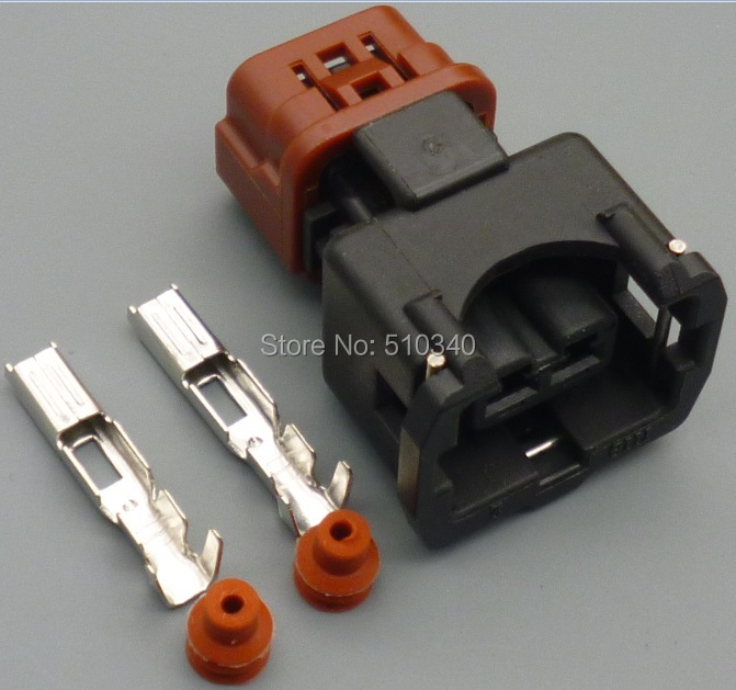 online get cheap wiring harness connector pins aliexpress com 100sets amp 2 pin pa66 female waterproof wire harness auto connector mainland