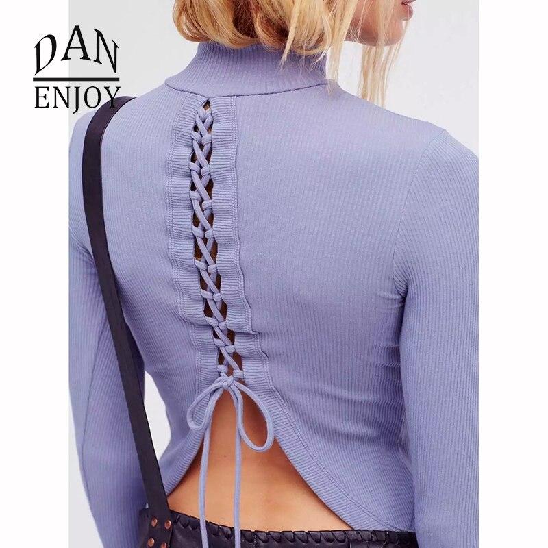 New Best Cross Strap Sexy Backless Long Sleeve High Neck T-shirt Shirt Fitness Running 2018 Tank Top Yoga New Womens Clothing