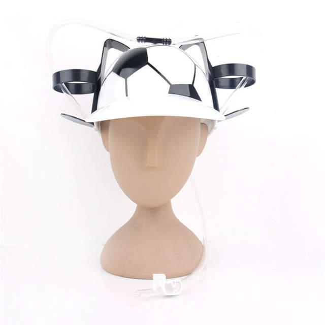 87761b38dc5 Lazy Helmet Party Favors Beverage Holder Helmet Drinking Straws Plastic  Handfree Beer Drinking Hat for Kids