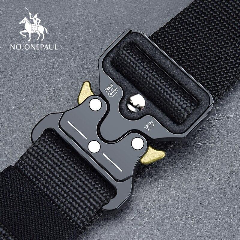 NO. ONEPAUL Tattico cintura Militare di Nylon di alta qualità di formazione degli uomini della cinghia di metallo fibbia multifunzionale sport all'aria aperta gancio nuovo