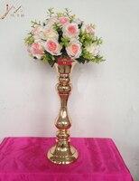New arrival height 53 cm gold wedding table centerpieces vase decoration event party supplies 1 lot = 10 pcs