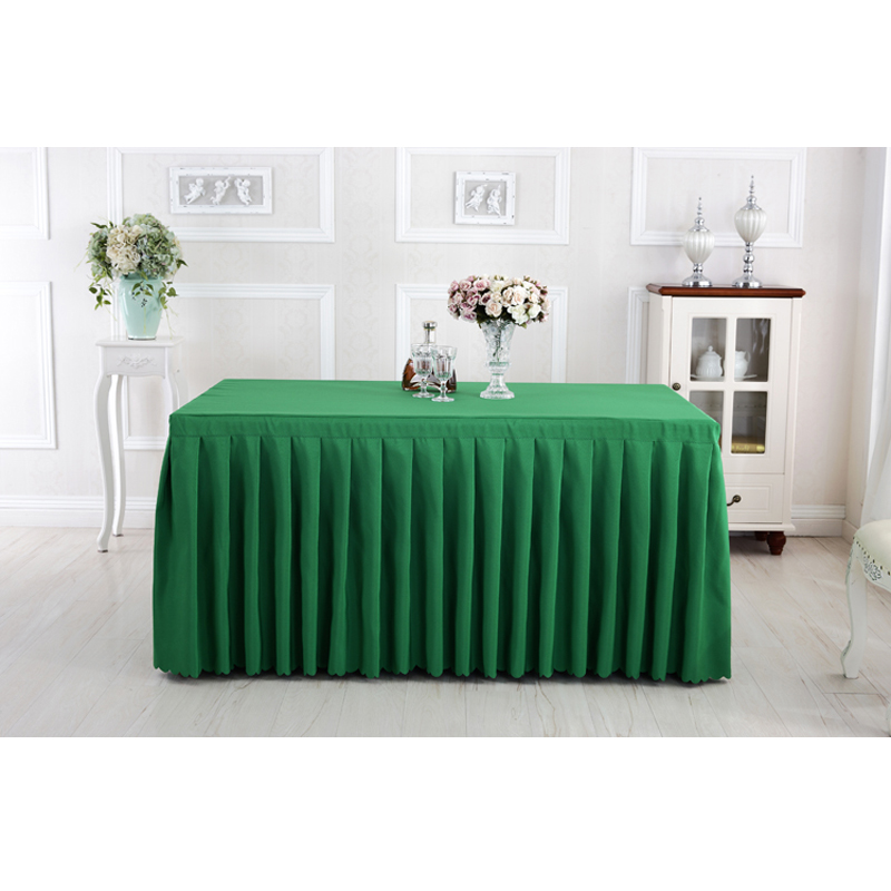 Conference Table Cloth Solid Polyester Tablecloths For Weddings - Conference table skirts