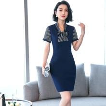 Nova Moda Verão 2018 Vestidos para Mulheres de Negócio Trabalho Desgaste  Vestido Vestidos Das Senhoras Roupas c1381e52f89ec