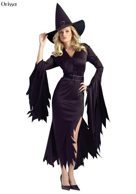 Gothic Witch Halloween Costume Sorceress Costume Adult Witch Fancy Dress Witch Wicked Cosplay Witch Costume  sc 1 st  AliExpress.com & Gothic Witch Halloween Costume Sorceress Costume Adult Witch Fancy ...