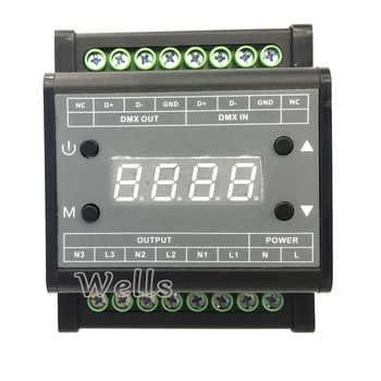 DMX302 led DMX triac dimmer brightness controller AC90V-240V Output 3channels 1A/CH High voltage led dimmer for led panel light - DISCOUNT ITEM  34% OFF All Category