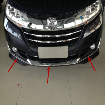 car auto cover styling For Honda Odyssey 2015 2016 2017 ABS chrome front head bumper fog lamp light accessories moulding trim honda odyssey