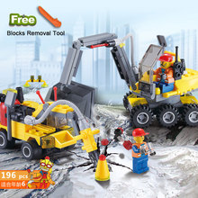 Conjuntos de Blocos de Construção Kazi 6092 Cidade Construção Escavadeira Compatível todas as marcas Da Cidade Brinquedos Brinquedos Educativos Tijolos Presente