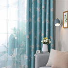Hot Flower Print Curtains Window Screening Room Darkening Thermal Insulated Grommet Curtains Dropshipping @LS
