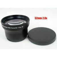52mm 2 0x TELE Telephoto Lens For Digital Camera DSLR 52 2 0 Black Camera Lens
