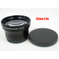 52mm 2 0x TELE Telephoto Lens For Digital Camera DSLR 52 2 0 Black Camera Lens