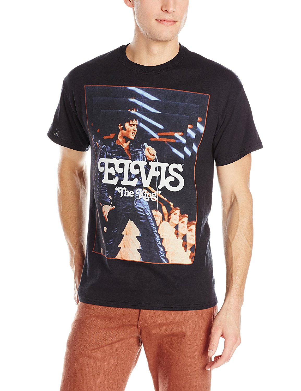 FEA Merchandising Mens Elvis Presley The King T-Shirt
