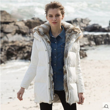Winter jacket women Nice new style coat overcoat brand fashion hooded big size white duck  warm long jackets and coats AW1158