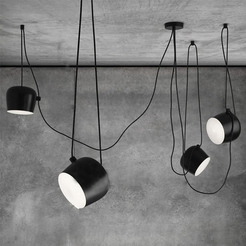 DIY vintage  black pendant lights iron lamp shades loft designer for dining room industrial simple decoration hanging lampDIY vintage  black pendant lights iron lamp shades loft designer for dining room industrial simple decoration hanging lamp