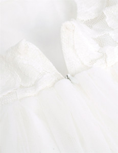 Image 5 - TiaoBug White Flower Girl Dress Princess Pageant Wedding Party Dress Birthday First Communion Ball Gown Lace Flower Girl Dress
