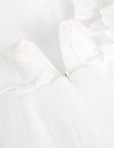 Image 5 - TiaoBugชุดสาวดอกไม้สีขาวปริ๊นเซประกวดพรรคชุดแต่งงานวันเกิดแรกร่วมบอลชุดลูกไม้ชุดสาวดอกไม้