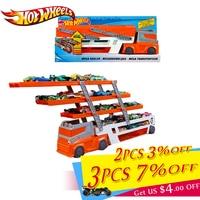 Original Hotwheels Brand Track Toy Heavy duty transporter Can Hold 50 Cars Hot wheels Hauler Truck Toy Caminhao de brinquedo
