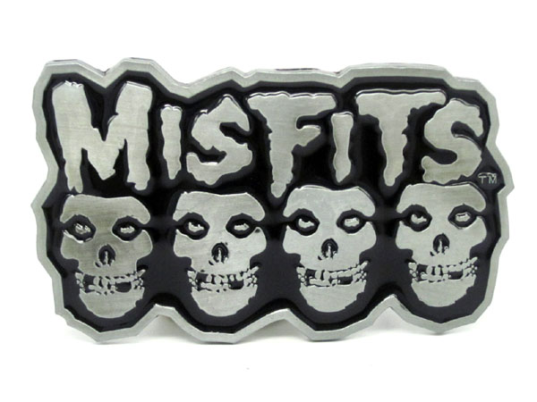 Misfits Emo Skull Rock Music Belt Buckle