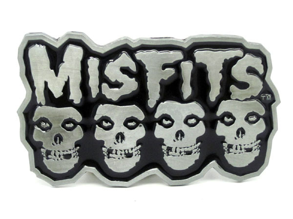 Misfits Emo Skull Rock Music Belt Buckle