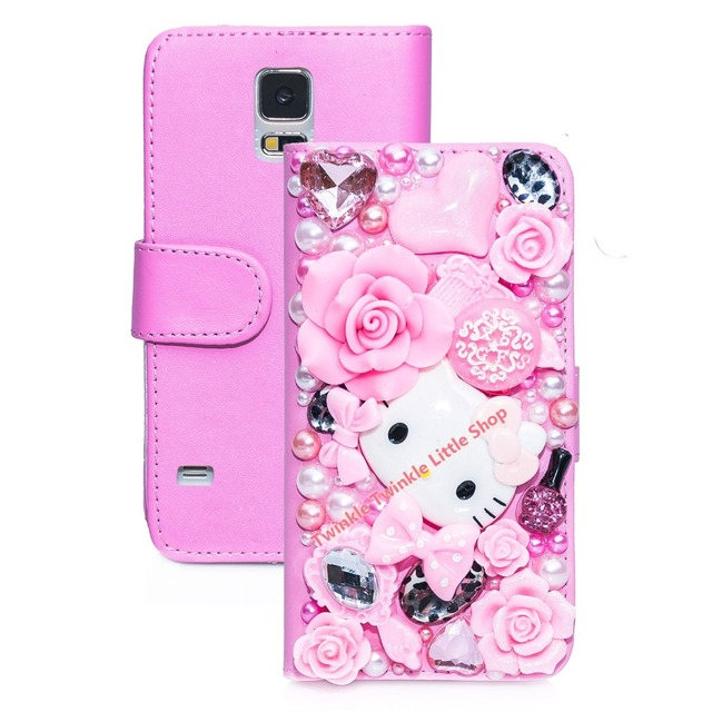 online store f45a3 82a2e US $6.39 |Hot Cute 3D Bling Crystal Hello Kitty Flip Wallet Leather Case  For Samsung Galaxy S5 Phone Cases For Samsung S5 Case-in Wallet Cases from  ...