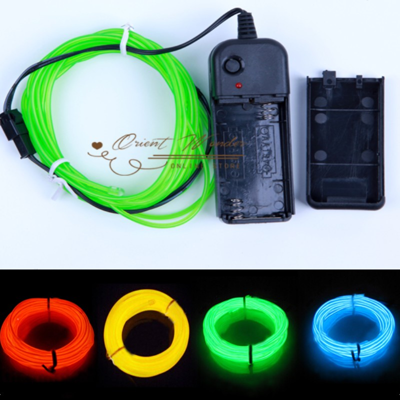 CAR Flexible Neon Light 3M EL Wire Party Decoration Line Color Options Car Wire Electroluminescent (2.3mm)
