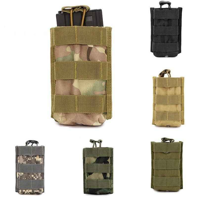 CQC Airsoft Military Tactical Molle Open Top Single Rifle Magazine Pouch M4 M16 5.56 .223 Hunting Paintball Mag Bag