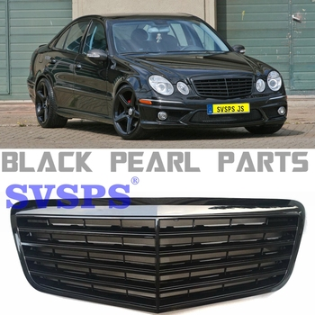 Auto Parts E Class klasse w211 e63 amg mercedes-tuning Front MIddle Grille for Mercedes E200 E240 E280  Benz e63 E320 Vehicle grille