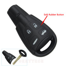 For SAAB Key 4 Buttons SAAB Remote Shell Case 9-3 9-5 93 95 Blank Car Key Shell Fob Case Cover With Small Key logo Free Shipping