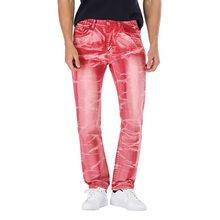 2019 New Men's Color Straight Jeans Personality male demin pants Man Plus Size 29-42 Casual Long Pants Trousers(China)