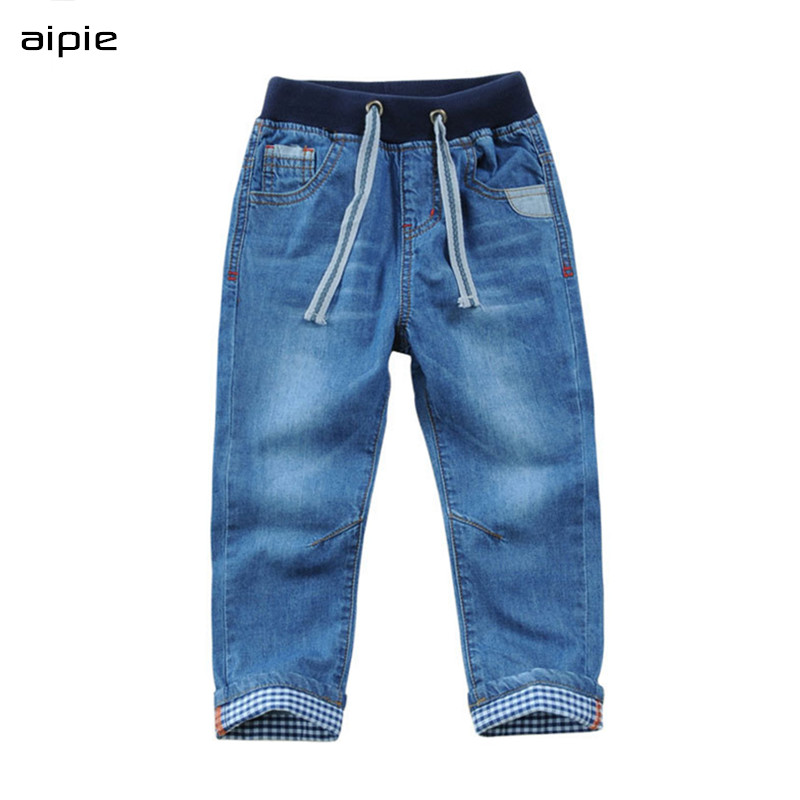 New Boy's Jeans Casual Solid Cotton 100% Denim Children's Jeans clothing For 3-14 Years Spring/Autumn wear