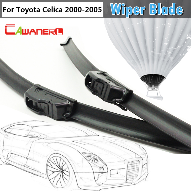 Cawanerl Car Bracketless Soft Rubber Windscreeen Windshield Wiper Blade For <font><b>Toyota</b></font> <font><b>Celica</b></font> <font><b>GT</b></font> <font><b>GTS</b></font> <font><b>Hatchback</b></font> 2-Door 2000-<font><b>2005</b></font>