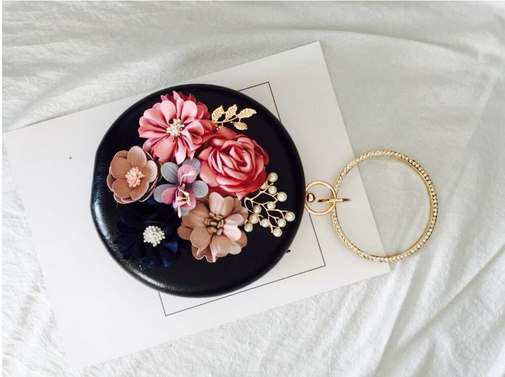 Meloke 2019 χειροποίητα λουλούδια βράδυ - Τσάντες - Φωτογραφία 6