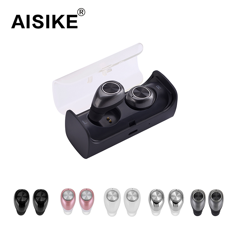 AISIKE TWS10 TWINS Double Bluetooth Earbuds True Wireless Mini In Ear Stereo Headset Earphone with Charging Socket Play Music aisike mini stereo car bluetooth headset wireless earphone bluetooth handsfree car kit with 2 usb base charging dock