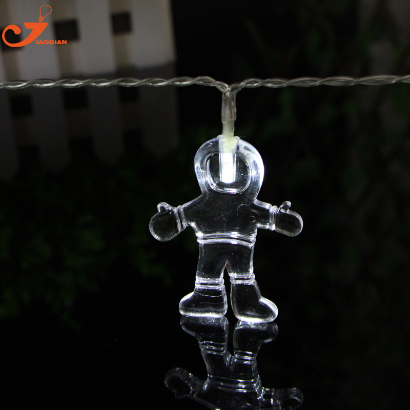 Spaceman light led lunar string lights Children toys lighting home party garden fairy letter lighting battery powered 10LED ...