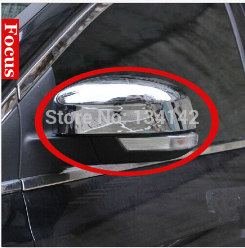 Chrome side mirror cover Trims For Ford Focus 2012