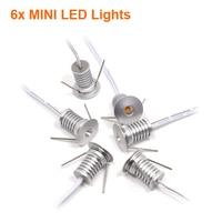 6pcs/lot  Dimmable Mini led downlight 1W mini led cabinet light  AC110V-220V Mini led lamp white  warm white with remote control