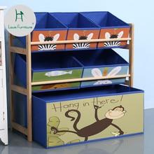 Луи Мода Детские шкафы из цельного дерева для хранения игрушек отделочные полки Детские бытовые игрушки для хранения