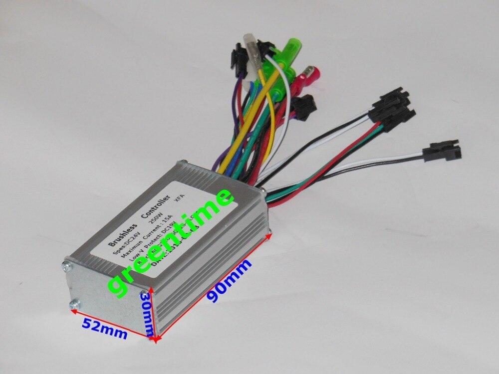 GREENTIME 24V 250W Brushless DC motor controller E bike controller ...