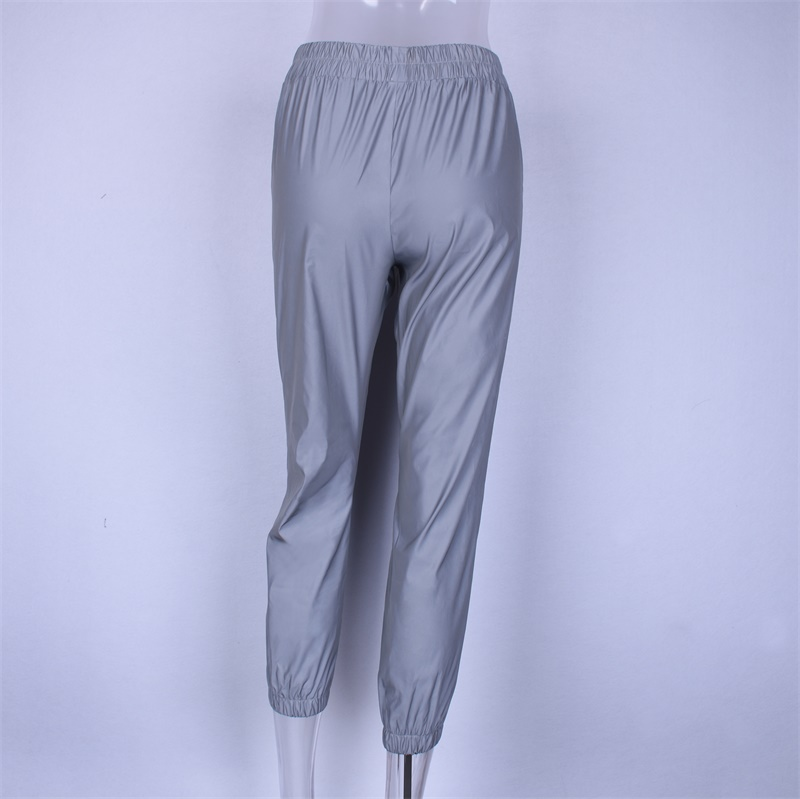 Flash Reflective Jogger Pants Autumn Winter Casual Solid Street Wear Trousers 61
