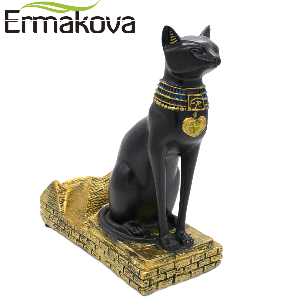 Small Wine Stand Us 29 51 15 Off Ermakova Wine Rack Resin Egyptian Cat Bestet Bottle Holder Animal Egyptian Goddess Wine Stand Accessories Home Bar Decor In