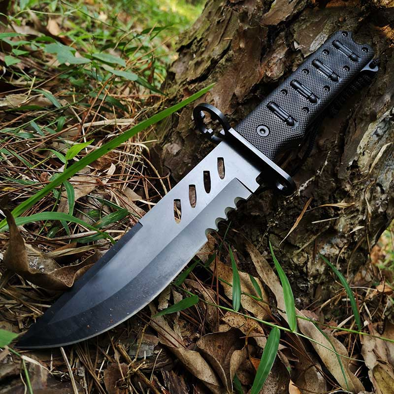 Tactical Full Size Marine Corps Fighting ,Knife,Strong Fixed Blade for Outdoor Survival EDC,Straight Knife, with Nylon Sheath image