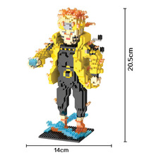 HC 9019 1915Pcs Hokage Ninjia Naruto Uzumaki Cartoon DIY Magic Blocks Diamond Building Block Toys Children Gifts