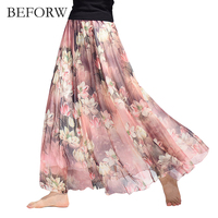 BEFORW Boho Style Women Beach Maxi Skirt 2017 Summer Casual Party Sexy Mini Skirt High Waist