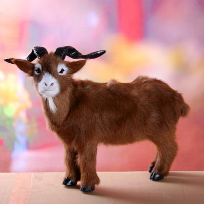 new creative simulation sheep toy polyethylene&furs brown goat model doll gift about 40x30cm 1688 creative simulation plush soft fox naruto toy polyethylene