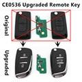 Mejorada Voltear Clave Remoto 433 MHz ID46 chip para CITROEN C2 C3 C4 C5 C6 Coche CE0536 HACER Señal de Alarma Keyless Entry Fob