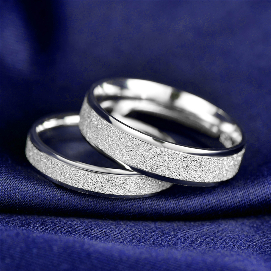 HTB1fHsMnDnI8KJjSszgq6A8ApXaJ 925 Sterling Silver Rings Woman Fashion Simple Couple Matte Rings Charming Female Lovers Jewelry