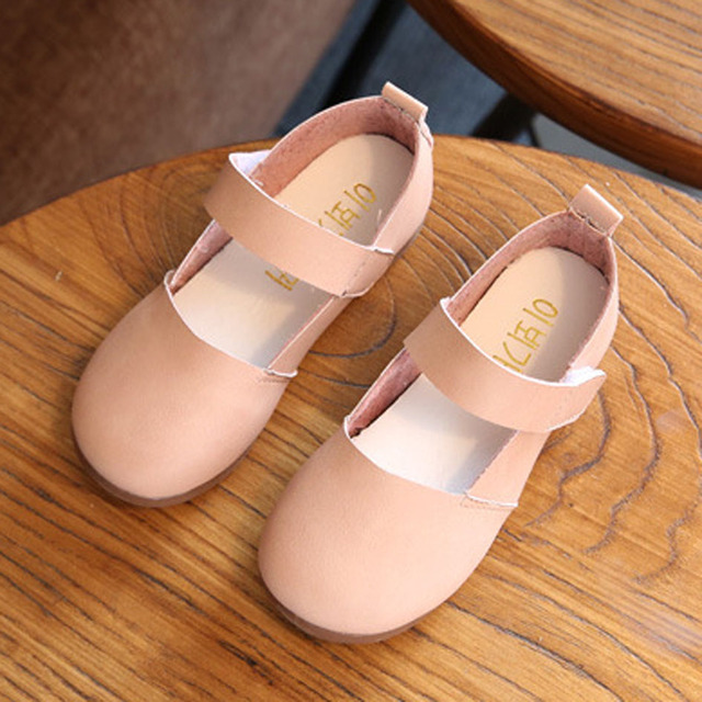 Spring Ankle Strap Princess Shoes 2017 Kids Girls Shoes Children's Flats Toddler Casual Shoes